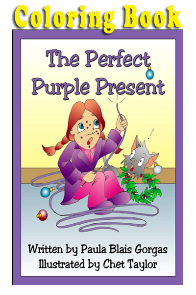 The Perfect Purple Present Coloring Book